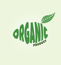 Eco friendly natural label organic product sticker vector