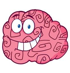 Happy Brain Cartoon vector image