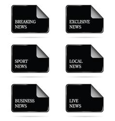 News file icon vector