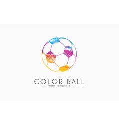 soccer mall logo colorful soccer ball crative vector image vector image