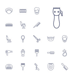 22 barber icons vector