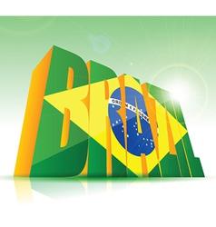 3d brazil background vector image