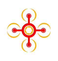 aero flying drone symbol logo design vector image