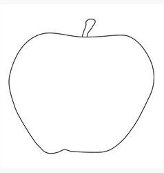 Apple outline drawing vector