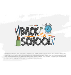Back to school design with school equipment vector