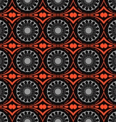 Background pattern of abstract flowers vector image