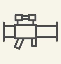 bazooka line icon rocket launcher vector image