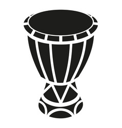 Black and white mexican drum silhouette vector
