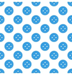 Blue seamless pattern made of buttons vector image