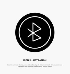 Bluetooth ui user interface solid glyph icon vector