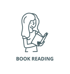 book reading line icon linear concept vector image