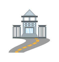 Building bank commerce road vector