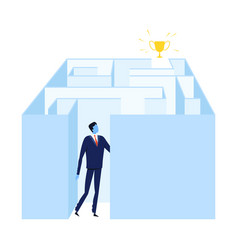 businessman finding solution solving problems vector image