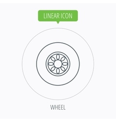 Car wheel icon Automobile service sign vector image