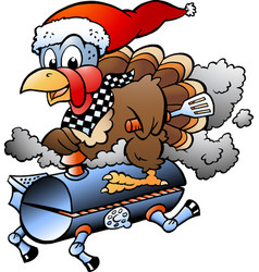 Cartoon of an christmas thanksgiving turkey vector