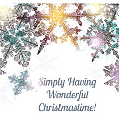christmas clear background with snowflakes vector image