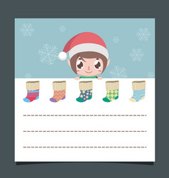 Christmas wishlist with a cute elf vector