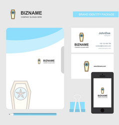Coffin business logo file cover visiting card and vector
