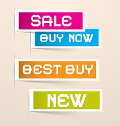 Colorful Paper Business Sale Labels vector image