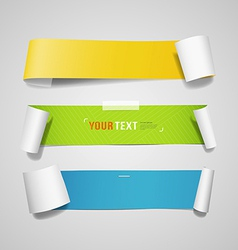 Colorful paper roll long collections design vector image