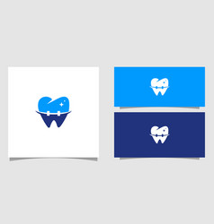 dental logo with smile template vector image