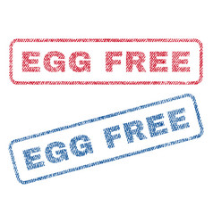 egg free textile stamps vector image