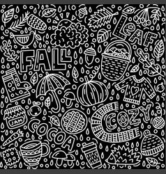 Fall doodle vector