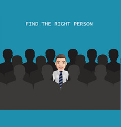 find right person for job concept vector image