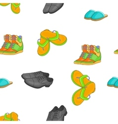 Footwear for different seasons pattern vector image