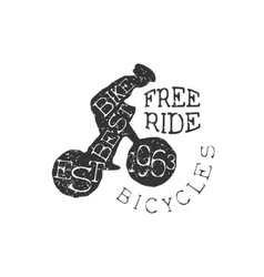 Freeride Bicycles Vintage Label vector image
