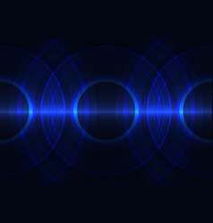 Frequency wave circle abstract background vector