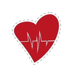 heart rate health cardiology symbol cut line vector image