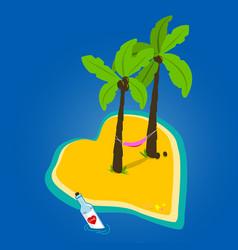 Heart shaped island vector