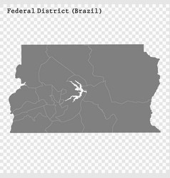 high quality mapstate brazil vector image
