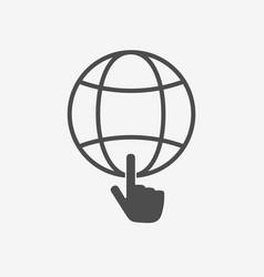 Internet symbol for web site design vector