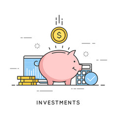 Investments money savings budget management vector