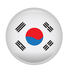 Isolated flag of south korea vector