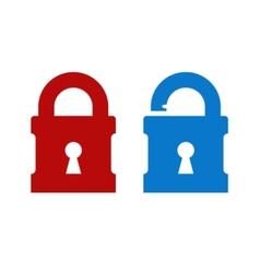 Lock unlock icon vector