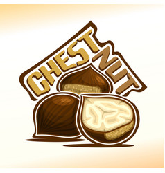 Logo for chestnut vector