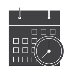 Meeting deadlines icon vector
