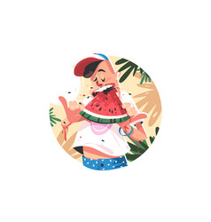 mellow summer fruit vector image