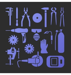 Metaworking icons set vector image