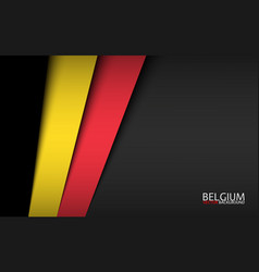 Modern background with belgian colors vector