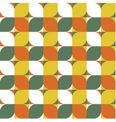 modern geometric seamless pattern mid century vector image