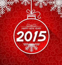 New Year card with snoflakes vector image