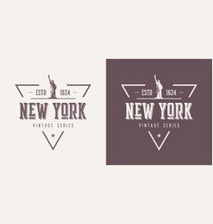 New york textured vintage t-shirt and vector