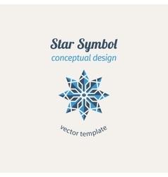 Ornamental Star Logo vector image
