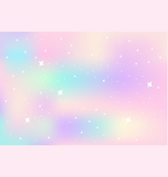 Pastel rainbow blurry background with sparks vector