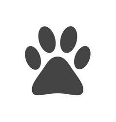 paw print icon isolated on white background dog vector image