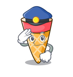 Police ice cream tone character cartoon vector
